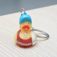 Home Key Rubber Ducky Collectible Keychains , Assorted Mini Rubber Duck Keychains  Manufactures