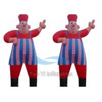 Backyard Nylon Carton Inflatable Air Dancers Two Tubes With Hands Manufactures
