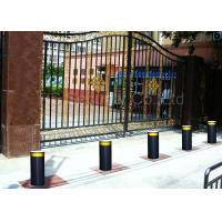 Access Control Steel Pipe Hydraulic Bollards Remote Road Traffic Barrier For Safety Manufactures
