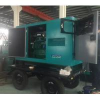 30kw Soundproof Cummins diesel generator  37.5 kva generator with trailer  three phase  fast delivery Manufactures