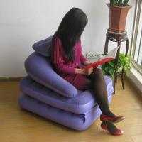 Fashion Purple PVC Flocked Office Modern Inflatable Furniture Round Corner Sofa Manufactures
