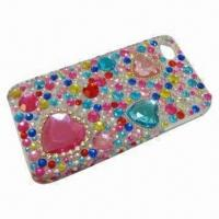 Diamond Bling Crystal Hard Case, Suitable for iPhone 4/4S, with Rhinestone Manufactures