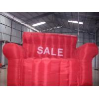 Large PVC Inflatable Sofa / Modern Inflatable Party Furniture Sofa Bed Manufactures