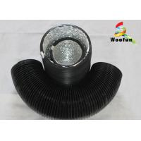 Stretchable Round 6 Inch Flexible Duct PVC Aluminum Foil With Single Layer Manufactures