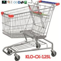 Metallic Distribute Store / Grocery Shopping Trolley With Custom Logo On Handle 125L Manufactures
