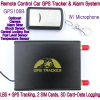 GPS106B Car Safety Vehicle GPS Tracker W/ Armed by remote-controller & geo-fencing Alarm Manufactures