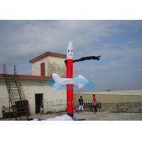 Quality Red Indoor Sky Dancers 5M Car Wash Wacky Inflatable Tube Man for sale