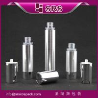 China TA021 15ml 30ml 50ml cylinder shape silver airless cosmetic pump bottle on sale
