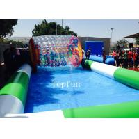 Customized Commercial Inflatable Pool / Large Inflatable Swimming Pool For Water Roller Balls Manufactures