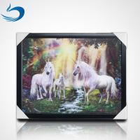 Home Decoration 3D Lenticular Picture Of Customize Horses Lenticular 3D Poster Manufactures