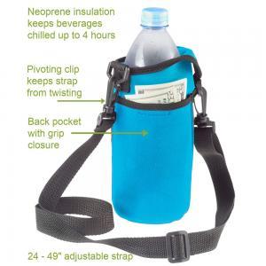 Reusable Adjustable Shoulder Strap Neoprene Water Bottle Carrier Manufactures