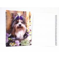 Flip A4 , A5 , A6 Size 3D Lenticular Notebook Cover For Wrinting Manufactures