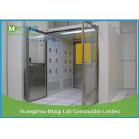 Electric Interlock Cargo Goods Air Shower Tunnel With Double Doors For Cleanroom Manufactures