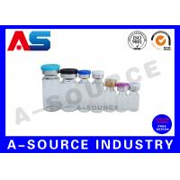 Buy cheap Amber Clear Glass Vials , 10 ml Glass Vials  Tube With Aluminum Caps from wholesalers