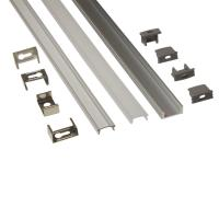 Silver Matt Square / Round Anodized Aluminium LED Profiles For LED Frame Manufactures