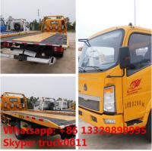 Quality China wrecker vehicle plarform road wrecker 4ton Sino wrecker truck, car towing for sale