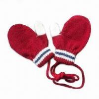 Children's Knitted Gloves, Made of Acrylic with Elastic Cuff, Available in Various Designs Manufactures