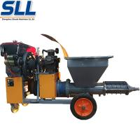 Buy cheap Gypsum mortar rendering plastering machine for building construction from wholesalers