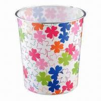 Trash Bins, Made of PP, Available in Various Sizes and Colors Manufactures