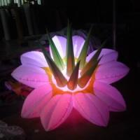 3 Meters Long White Inflatable Flowers For Decorative Advertising Manufactures