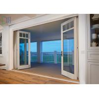 Safety Functional Aluminium Folding Patio Door With Standard Glass Manufactures