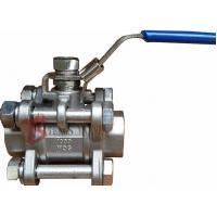 Threaded NPT Soft Seated Ball Valve , Cast Stainless Steel Ball Valve 1000PSI Manufactures