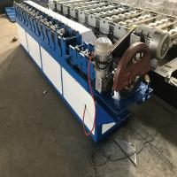 3kw High Speed Shutter Door Roll Forming Machine Space Save In Blue Color Manufactures