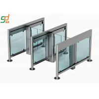 Access Swing Barrier Gate,2.00 Thickness 304 Stainless Steel Glass Turnstile Manufactures