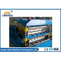 China Speed 15-20m/min Double Layer Roofing Sheet Roll Forming Machine PLC Control Automatic on sale