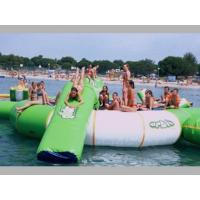Outdoor Inflatable Water Jump Bed Combination , Inflatable Water Trampoline With Slide Manufactures