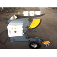 Buy cheap Tilting Rotary Welding Positioner Table With Hand Remote And Foot Pedal Control from wholesalers
