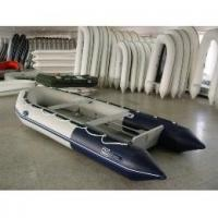 White foldable PVC Inflatable Boat For Many People , water park games Manufactures