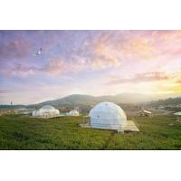 Windproof Geodesic Tent Dome With White Wall For Outdoor Activities Metal Geodesic Dome Manufactures