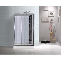 Model Rooms Rectangular Shower Cabins With Tempered Glass Sliding Door