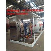 Quality China bottom price mobile skid lpg gas station with lpg gas dispenser for sale, for sale