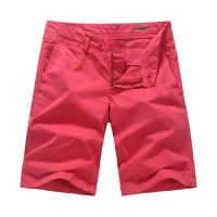 Red Garment Dyeing Mens Summer Shorts casual clothes for juniors Manufactures