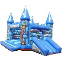Quality 0.55mm PVC Tarpaulin Kids Inflatable Sports Games , Moonwalk Commercial Bouncy for sale