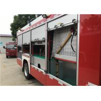 2x Halogen Lamp Tanker Fire Truck , 260 L/Min Flow Light Rescue Fire Trucks Manufactures