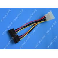 Quality IDE Flat Cable Harness Assembly 4 Pin to 2 x 15 Pin SATA To Serial ATA SATA for sale