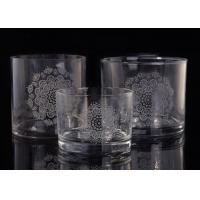 Clear Replacement Glass Candle Holders With Laser Engraved Etching Logo Manufactures