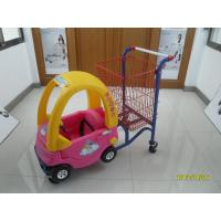 95L Low Carbon Steel / Plastic Children Shopping Cart With Red Powder Coating Manufactures