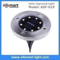 Quality Solar Ground Lights Warm 8 LED Solar Inground Spotlights White Solar Pathway for sale