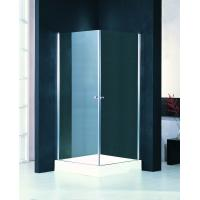 Quality Square Shower Stall Enclosures With Frameless Pivot Glass Shower Doors for sale