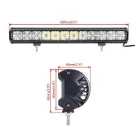 Made in China auto roof white Cross DRL lighting 21.5'' cree 120w 7D rally led driving light bar Manufactures