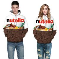 China 80%  polyester  Food Thin 3d Sweatshirts woman/man clothes Hoodies sweatshirts any color on sale