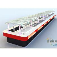 6.9 Meter Commercial Buffet Equipment White Artificial Marble Cafeteria Buffet Table Manufactures