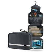 Unisex Folded Compact Toiletry Bag With 4 Compartments Manufactures