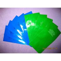 Quality Middle Sealed Plastic Bag Disposable Wet Wipes Packaging , Blue / Green for sale
