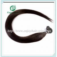 "Pre-Bonded Hair 10""-28"" 100s/pack 1B# color Straight Human Hair Brazilian hair extension Manufactures"