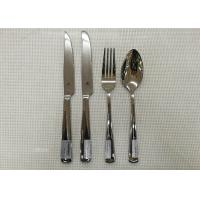 Stainless Steel 304# Flatware Sets Of 20 Pieces Steak Knife Dinner Fork Serving Spoon Manufactures